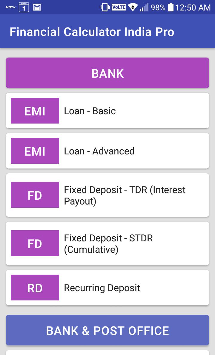 Financial Calculator India App